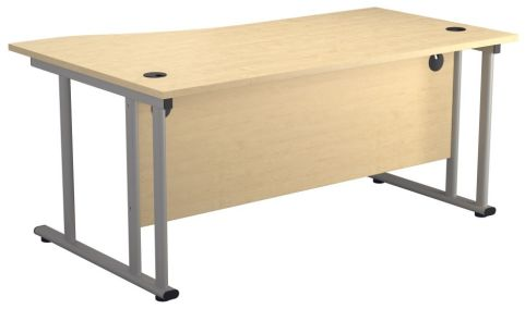 Ziggy Right Hand Wave Desk In Maple Rear View