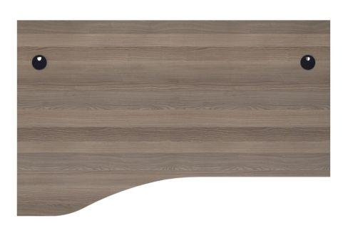 Ziggy Left Hand Wave Desk In Grey Oak Top View