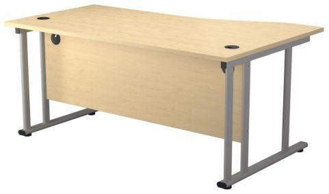 Ziggy Left Hand Wave Desk In Maple Rear View