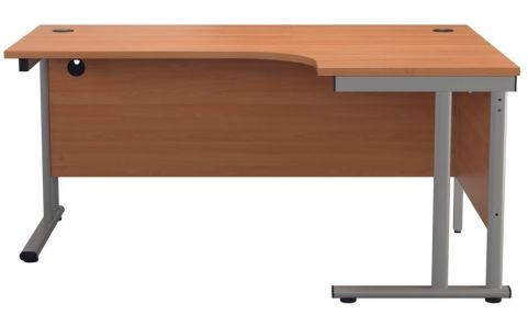 Ziggy Right Hand Corner Desk In Beech Front View