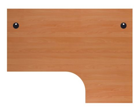 Ziggy Right Hand Corner Desk In Beech Top View