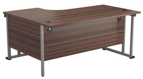 Ziggy Right Hand Corner Desk In Dark Walnut Rear View