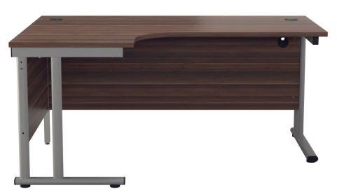 Ziggy Left Hand Corner Desk In Dark Walnut Top View