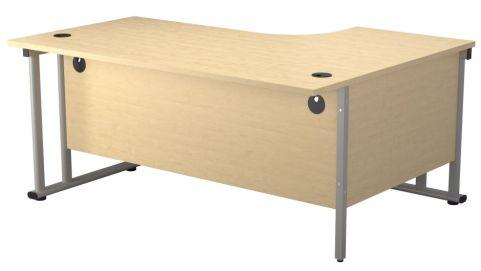 Ziggy Left Hand Corner Desk In Maple Rear View