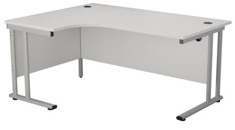Ziggy Left Hand Corner Desk In White Angled View
