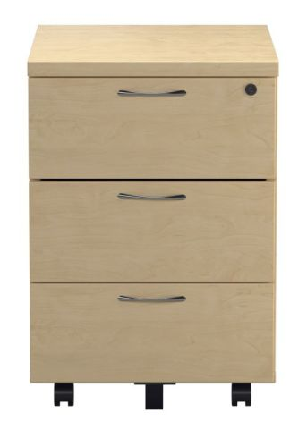 Ziggy Three Drawer Pedestal In Beech Front View