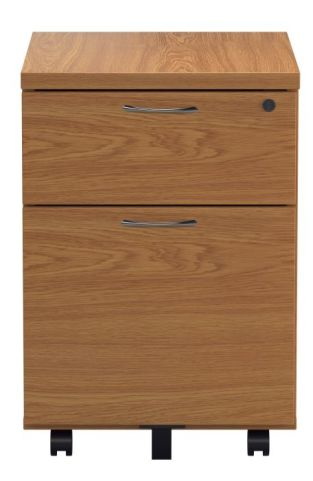 Ziggy Two Drawer Pedestal In Beech Front View