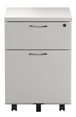 Ziggy Two Drawer Pedestal In White Front View