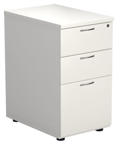 Ziggy Desk Height Pedestal In White Angled View