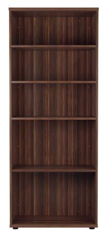 Ziggy Bookcase In Dark Walnut Front View