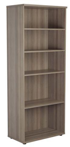 Ziggy Bookcase In Grey Oak Angled View