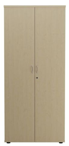 Ziggy Wooden Double Door Cupboard In Maple Front View