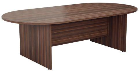 Ziggy D End Meeting Table In Dark Walnut