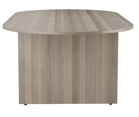 Ziggy D End Meeting Table In Grey Oak Side View