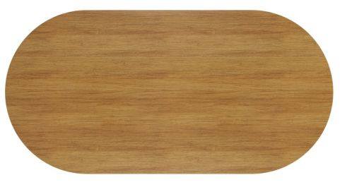 Ziggy D End Meeting Table In Light Walnut Top View