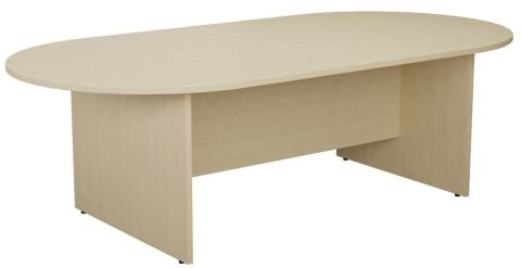 Ziggy D End Meeting Table In Maple Angled View