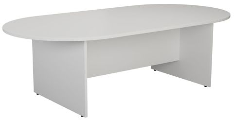Ziggy D End Meeting Table In White Angled View