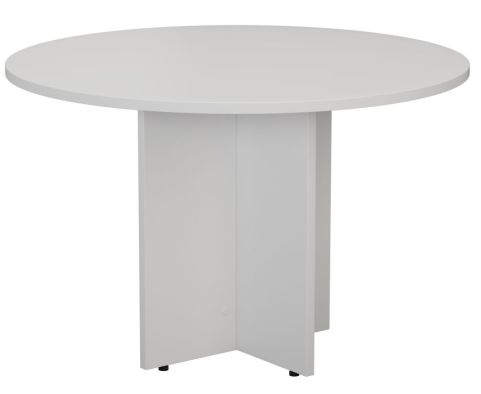 Ziggy Circular Meeting Table In White Angled View