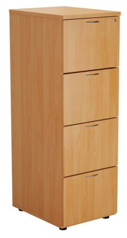 Ziggy Wooden Filing Cabinet In Beech Angled View