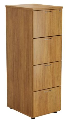 Ziggy Wooden Filing Cabinet In Light Walnut Angled View