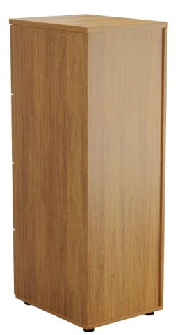 Ziggy Wooden Filing Cabinet In Light Walnut Rear Angled View