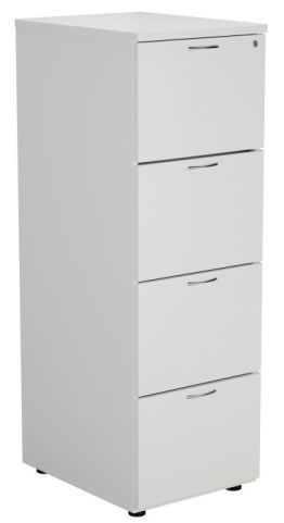 Ziggy Wooden Filing Cabinet In White Angled View