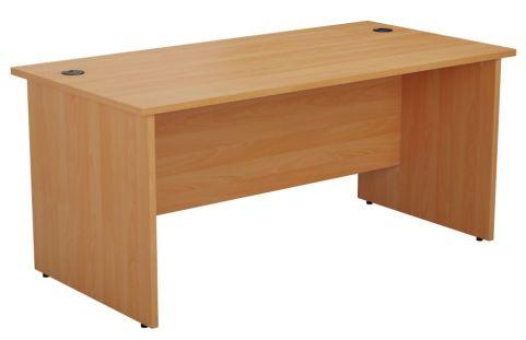 Ziggy Rectangular Panel Desk In Beech Angled View