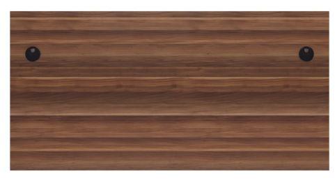 Ziggy Rectangular Panel Desk In Dark Walnut Top View