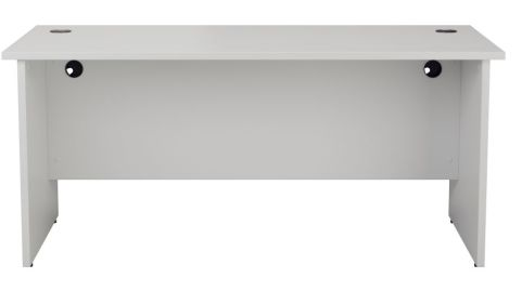 Ziggy Rectangular Panel Desk In White Front View