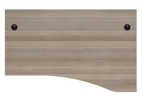 Ziggy Right Hand Panel Wave Desk In Grey Oak Top View