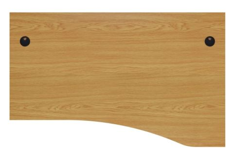 Ziggy Right Hand Panel Wave Desk In Light Walnut Top View