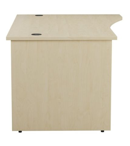 Ziggy Right Hand Panel Wave Desk In Maple Side View