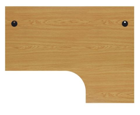 Ziggy Right Hand Panel Corner Desk In Beech Top View