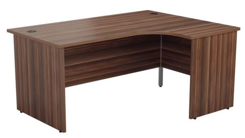 Ziggy Right Hand Panel Corner Desk In Dark Walnut Angled View
