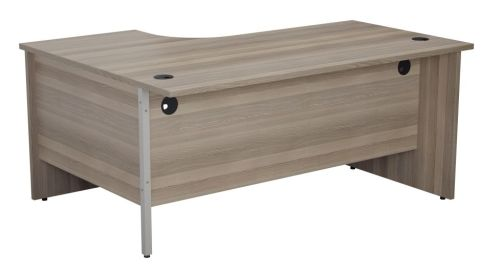 Ziggy Right Hand Panel Corner Desk In Grey Oak Rear View