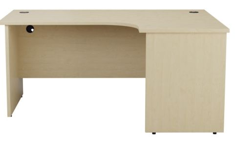 Ziggy Right Hand Panel Corner Desk In Maple Front View