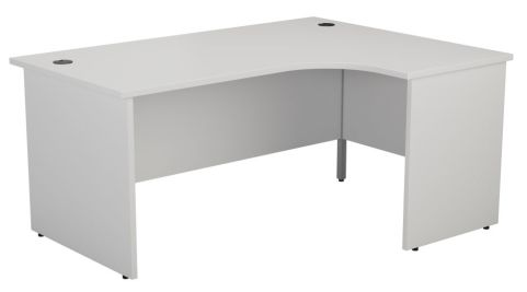 Ziggy Right Hand Panel Corner Desk In White Front View