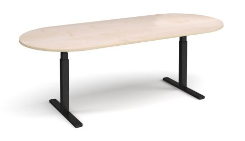 Elev8 Radial End Boardroom Table Maple