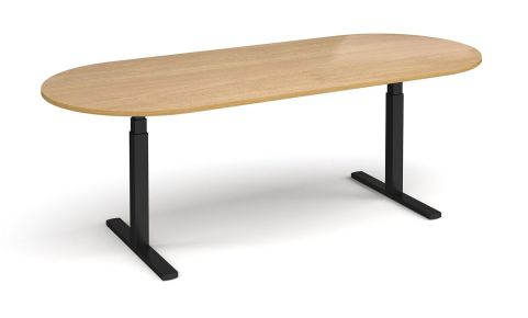 Elev8 Radial End Boardroom Table Oak