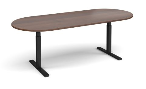 Elev8 Radial End Boardroom Table Walnut