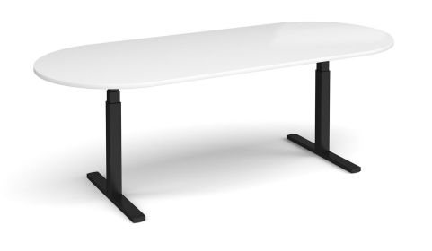 Elev8 Radial End Boardroom Table White