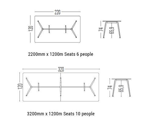 Elica Boardroom Table Dimensions