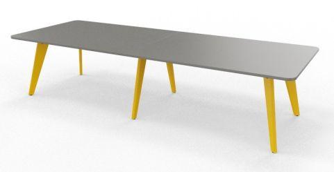 BODO Coloured Radius Corner Table Colza Yellow
