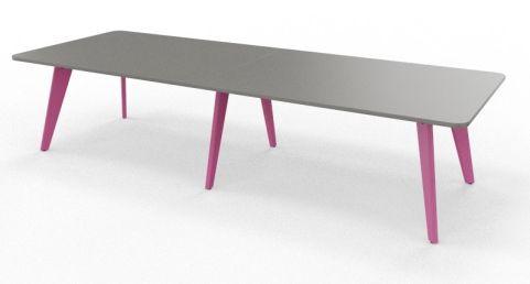 BODO Coloured Radius Corner Table Heather Violet