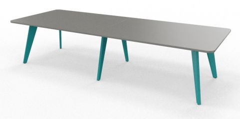 BODO Coloured Radius Corner Table Turquoise Blue