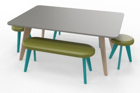 BODO Coloured Boardroom Table Bundle Turquoise Blue
