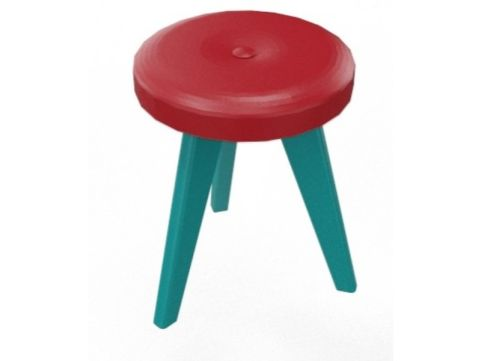 BODO Low Stool Turquoise Blue