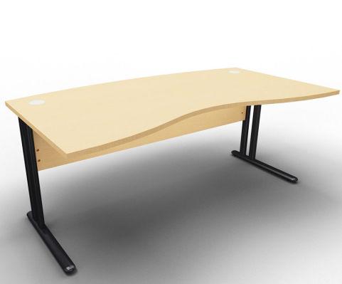 Optimize Managers Double Wave Desk Beech