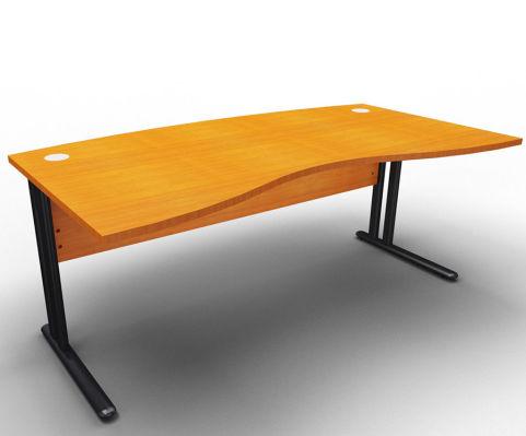 Optimize Managers Double Wave Desk Cherry