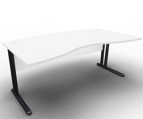 Optimize Managers Double Wave Desk White